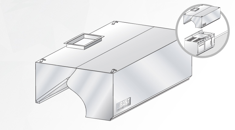 Grease Hood With Integrated Make Up Air Fast Kitchen Hoods