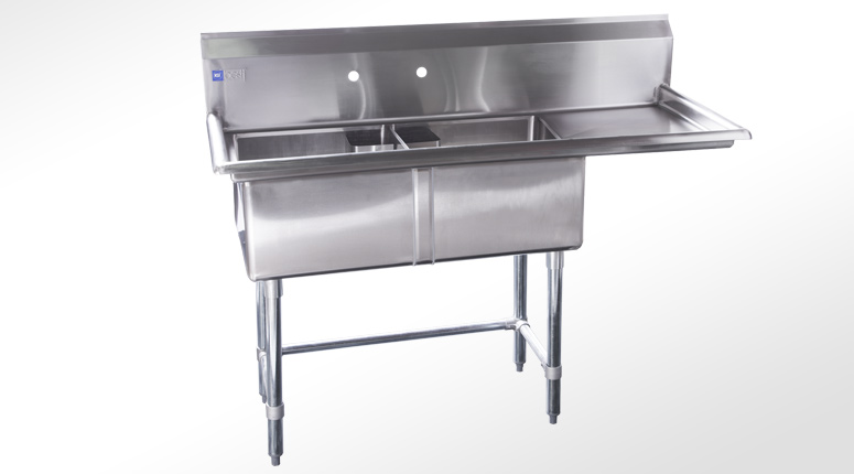 2 Compartment Stainless Steel Sink
